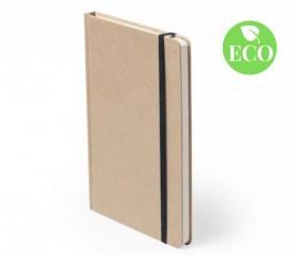 libreta tipo moleskine A5 tapa carton reciclado con sello ECO para personalizar con logo