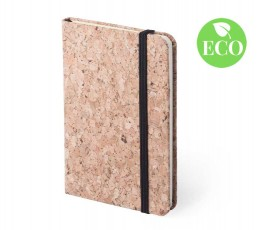 bloc de notas de corcho con sello ECO