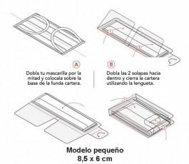 instrucciones de la funda porta mascarillas personalizable