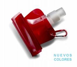 botella de agua plegable para personalizar presentada sin desplegar con sello nuevos colores