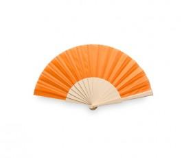 abanico varilla madera modelo A8863 color naranja
