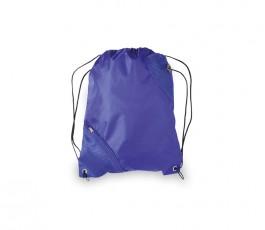 mochila de saco con bolsillo modelo A3630 de color azul
