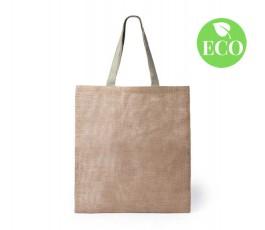 bolsa de yute con asas medianas y sello ECO