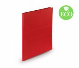 carpeta de carton reciclado de color rojo con seloo ECO