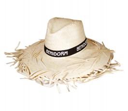 sombrero filagarchado modelo S1476 con cinta negra personalizada