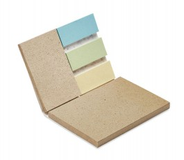interior del bloc de notas con hojas con semillas