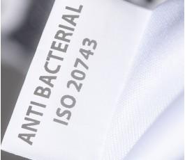etiqueta de la bolsa con tratamiento antibacteriano
