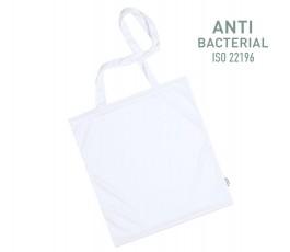 bolsa con tratamiento antibacteriano color blanco y sello ISO