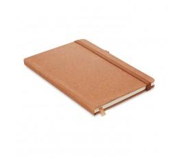 libreta tipo moleskine de PU reciclado de color marron
