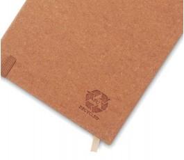 dorso de libreta tipo moleskine de PU reciclado