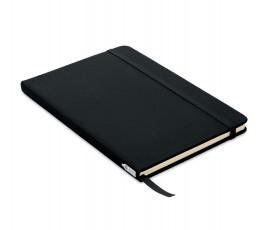 libreta tipo moleskine de RPET color negro