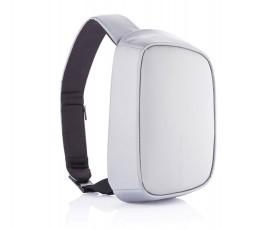 mochila publicitaria antirrobo y proteccion RFID color gris