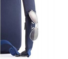 gafas en la tira de la mochila publicitaria antirrobo y proteccion RFID