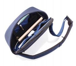 mochila publicitaria antirrobo y proteccion RFID abierta color negro