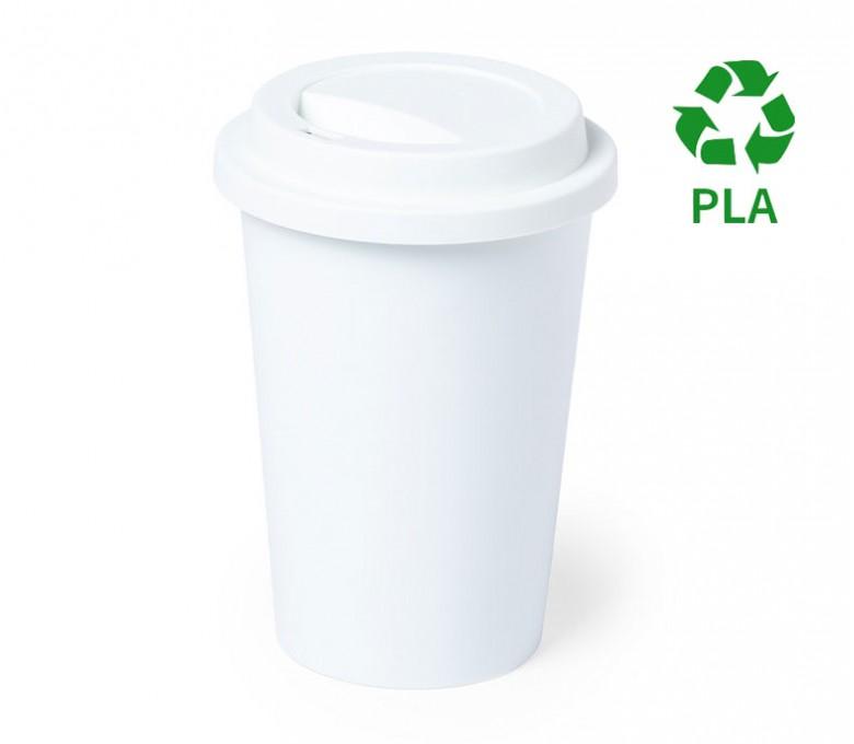 taza personalizada de PLA con tapa y con sello PLA
