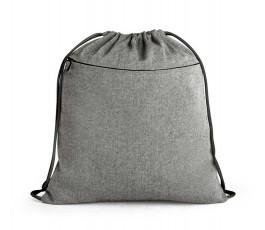 mochila de cuerdas de algodon reciclado modelo ZS92928 color negro