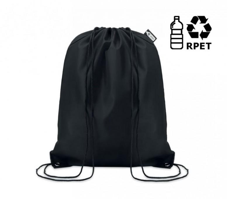 Mochila de cuerdas RPET para personalizar con un logo con sello  RPET