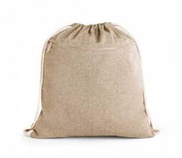 mochila de cuerdas de algodon reciclado modelo ZS92928 color natural