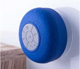 altavoz bluetooth impermeable modelo A4929 color azul acoplado a una pared