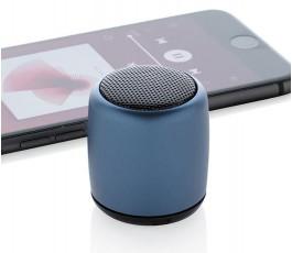 mini altavoz para personalizar con logo color azul con movil