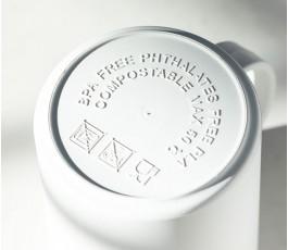 base de la taza de PLA biodegradable para personalizar