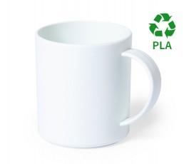 taza de PLA biodegradable para personalizar con sello PLA