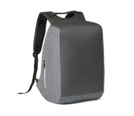 mochila para ordenador y tablet para personalizar con logo color gris y negro