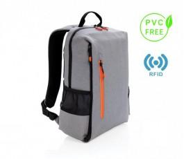 mochila para ordenador sin PVC modelo K76240 color gris con sello PVC FREE y RFID