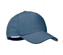 gorra publicitaria de cañamo color azul