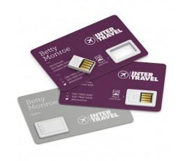 tarjetas de visitas impresas a todo color con memoria USB incorporada