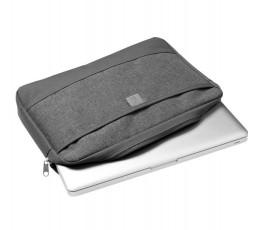 """funda para portatil de 13"""" color gris para personalizar con logo con portatil en el interior"""