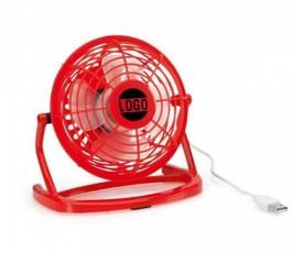 mini ventilador de color rojo para personalizar con logo como regalo publicitario