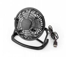 mini ventilador para escritorio de color negro