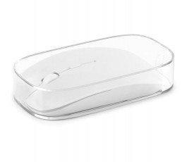 raton inalambrico para personalizar modelo ZS97304 color blanco en estuche transparente