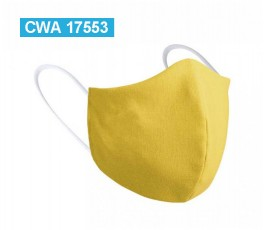 mascarilla personalizada infantil color amarillo con sello CWA 17553