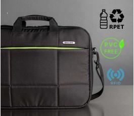 maletin ecologico para ordenador con sellos RPET, PVC FREE y RFID