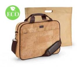 maletin para ordeandor fabricado en corcho con funda de non-woven con sello ECO