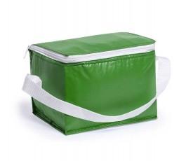Nevera para 6 latas modelo A3072 color verde y cinta blanca