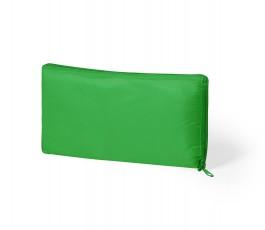 bolsa nevera plegable color verde presentado plegada