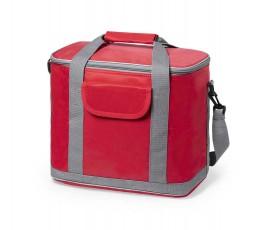 bolsa nevera para personalizar con logo modelo A6813 color rojo