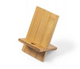 soporte de madera de bambu para movil para personalizar con logo