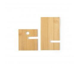 soporte de madera de bambu para movil desmontado