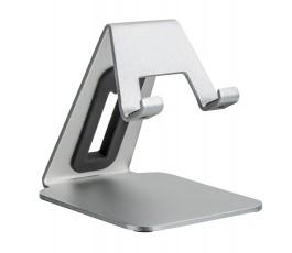 soporte de aluminio para móvil en fondo blanco