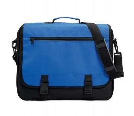 maletin portadocumentos tipo bandolera en colores azul y negro