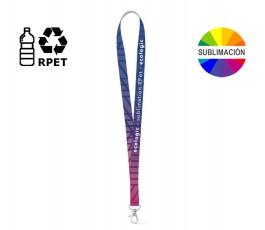 lanyard RPET sublimacion personalizado a todo color y mosqueton