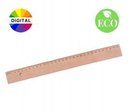 regla de madera de 30 cm con sellos ECO y DIGITAL