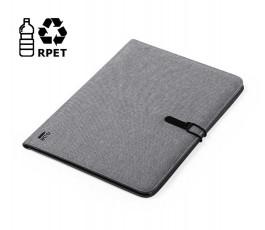 carpeta ecologica publicitaria A4 color gris con logo RPET