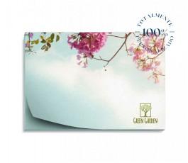 vista cenital de bloc de notas adhesivas publicitarias rectangulares totalmente personalizado