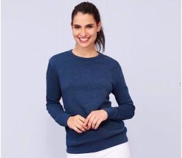 mujer con cuello redondo modelo L3104 color azul oscuro