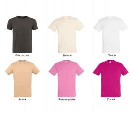 surtido de colores claros y negro de camiseta hombre SOLS Regent